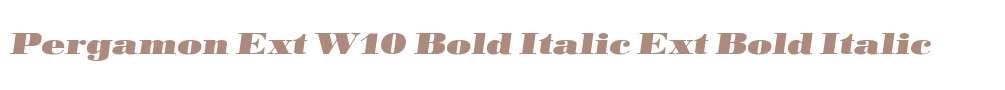 Pergamon Ext W10 Bold Italic