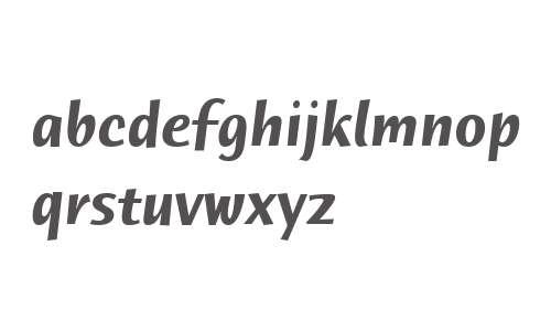 Humana Sans ITC W04 Bold Italic