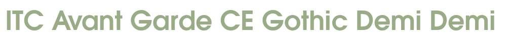 ITC Avant Garde CE Gothic Demi