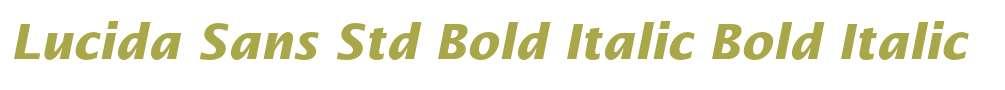 Lucida Sans Std Bold Italic