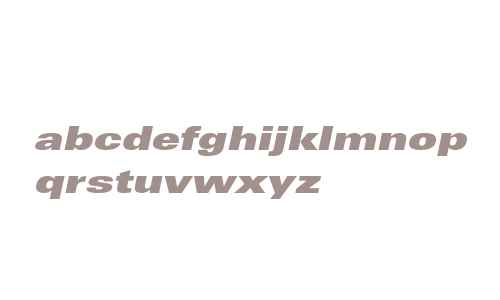 Univers LT Std 93 Extra Black Extended Oblique