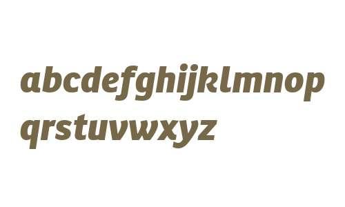 Ronnia W02 Extra Bold Italic