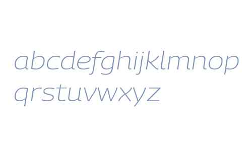 PanoramaW Extended UltraLight Bold Italic