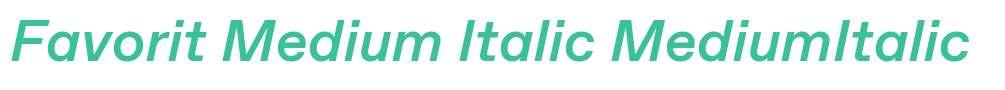 Favorit Medium Italic
