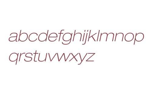 Helvetica Neue LTW0633ThExtObl