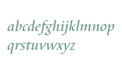 Barbedor W04 Medium Italic