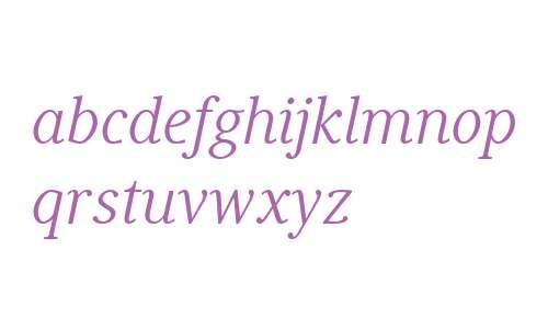 Generis Serif W04 Italic