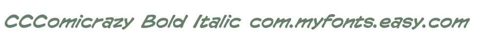 CCComicrazy Bold Italic