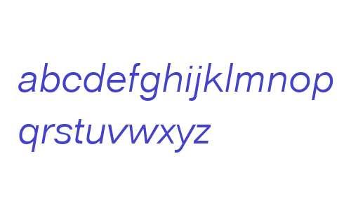 FolioLig W03 Italic