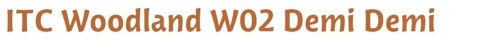 ITC Woodland W02 Demi
