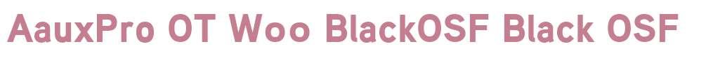 AauxPro OT W00 BlackOSF