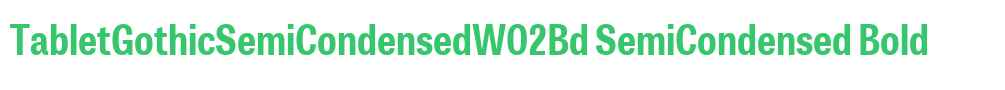 TabletGothicSemiCondensedW02Bd