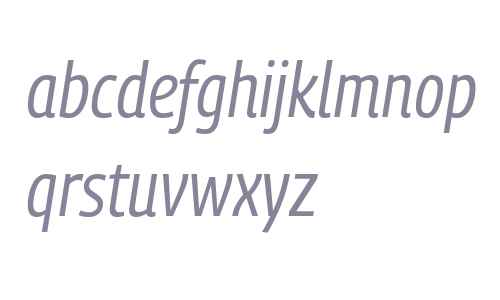 PanoramaW SemiCondensed Italic
