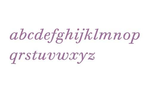 Bodoni Six ITC Book Italic OS