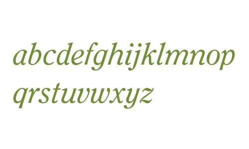 ITC Clearface Std Italic