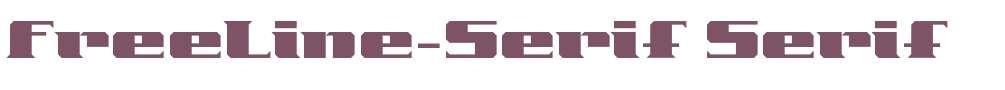 FreeLine-Serif