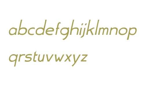 Aerle Thin W01 Italic