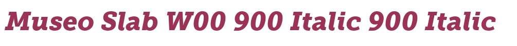 Museo Slab W00 900 Italic