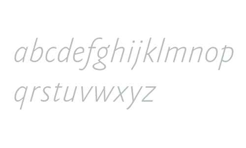 Yoga Sans OT W03 Thin Italic