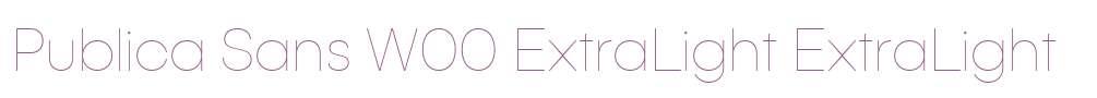 Publica Sans W00 ExtraLight