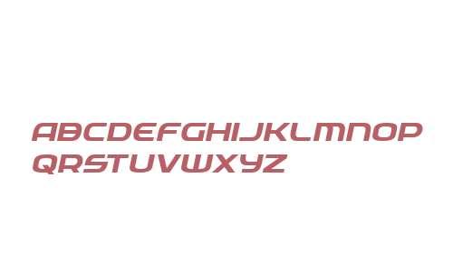 Federal Service Semi-Bold Expanded Italic