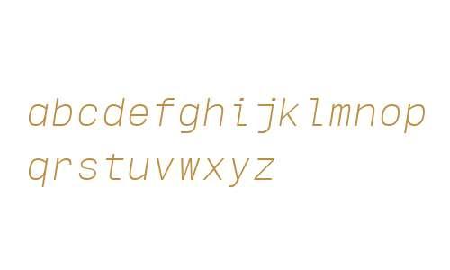 Sequencia Mono W00 Light Italic