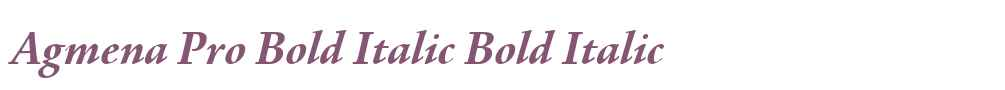Agmena Pro Bold Italic