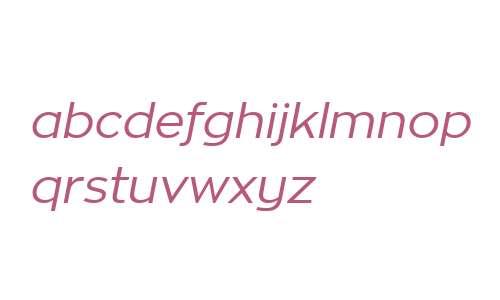 Zona W01 Regular Italic