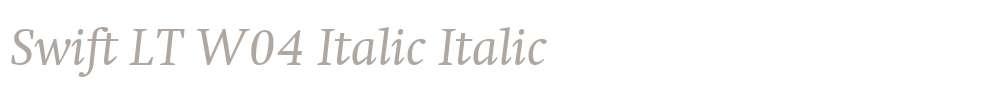 Swift LT W04 Italic