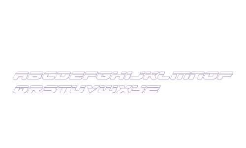 Speed Phreak Outline Italic