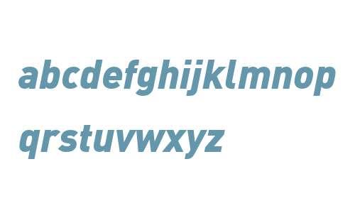 DIN Web W07 Black Italic