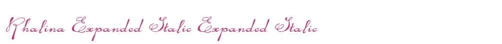 Rhalina Expanded Italic