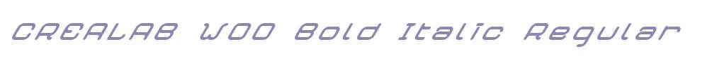 CREALAB W00 Bold Italic