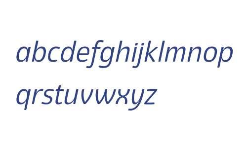 Eigerdals W00 Regular Italic