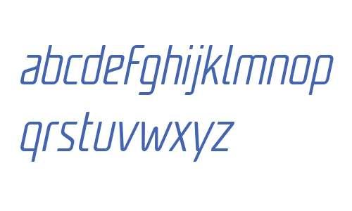 Unicod Sans W03 Cond Light It
