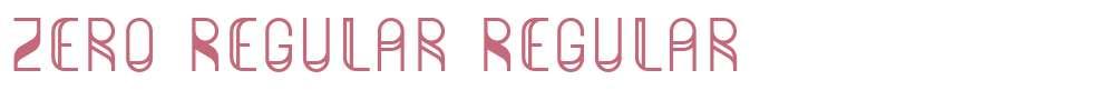 Zero Regular