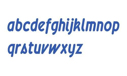 Wevli Condensed W90 Bold Italic