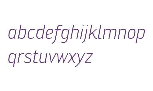 Engel W00 Light Italic