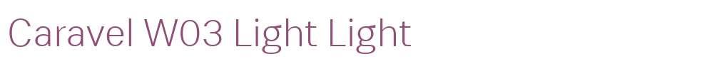 Caravel W03 Light