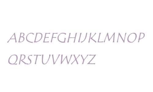 Tempus Sans SC ITC Italic