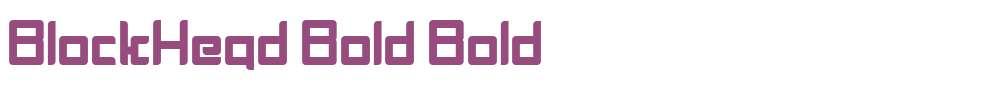 BlockHead Bold