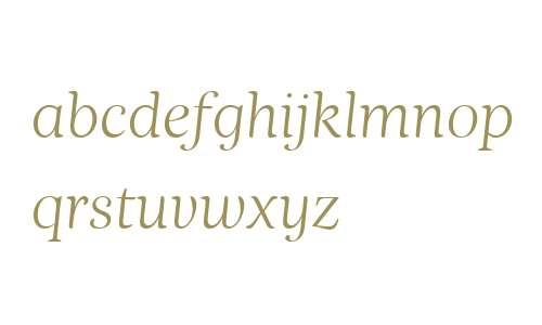 Nyte W00 Thin Italic