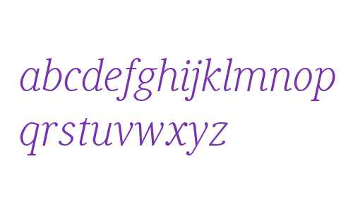 Generis Serif W04 Light Italic
