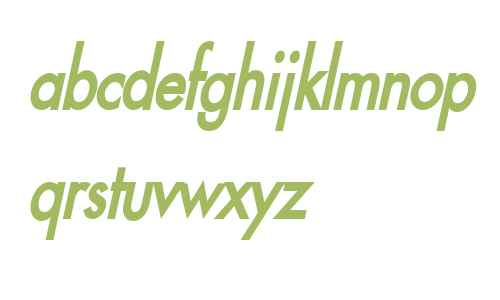 Fusi Condensed Bold Italic