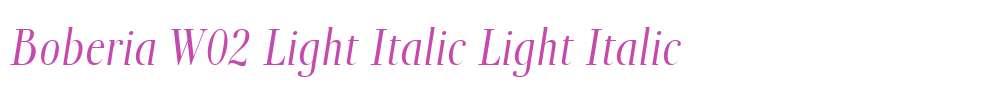 Boberia W02 Light Italic