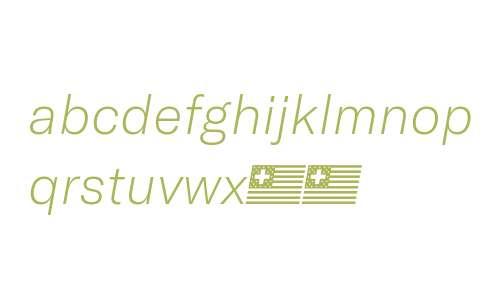 GT America Thin Italic