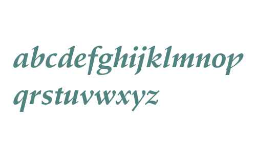 Stempel Schneidler Bold Italic
