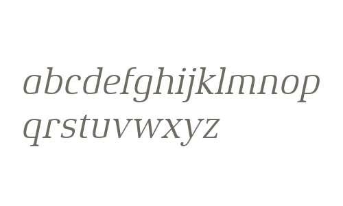 Xenois Serif W04 Italic