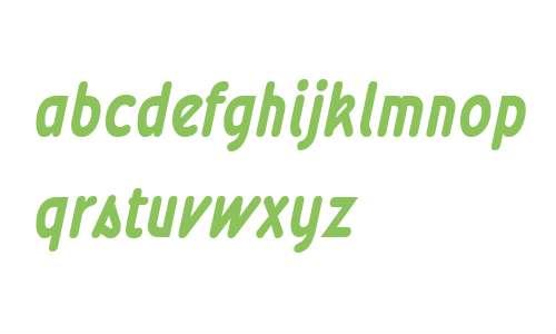 Wevli W00 Condensed Bold Italic