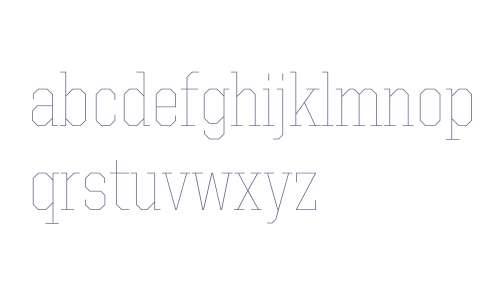 United Serif SemiCond Thin